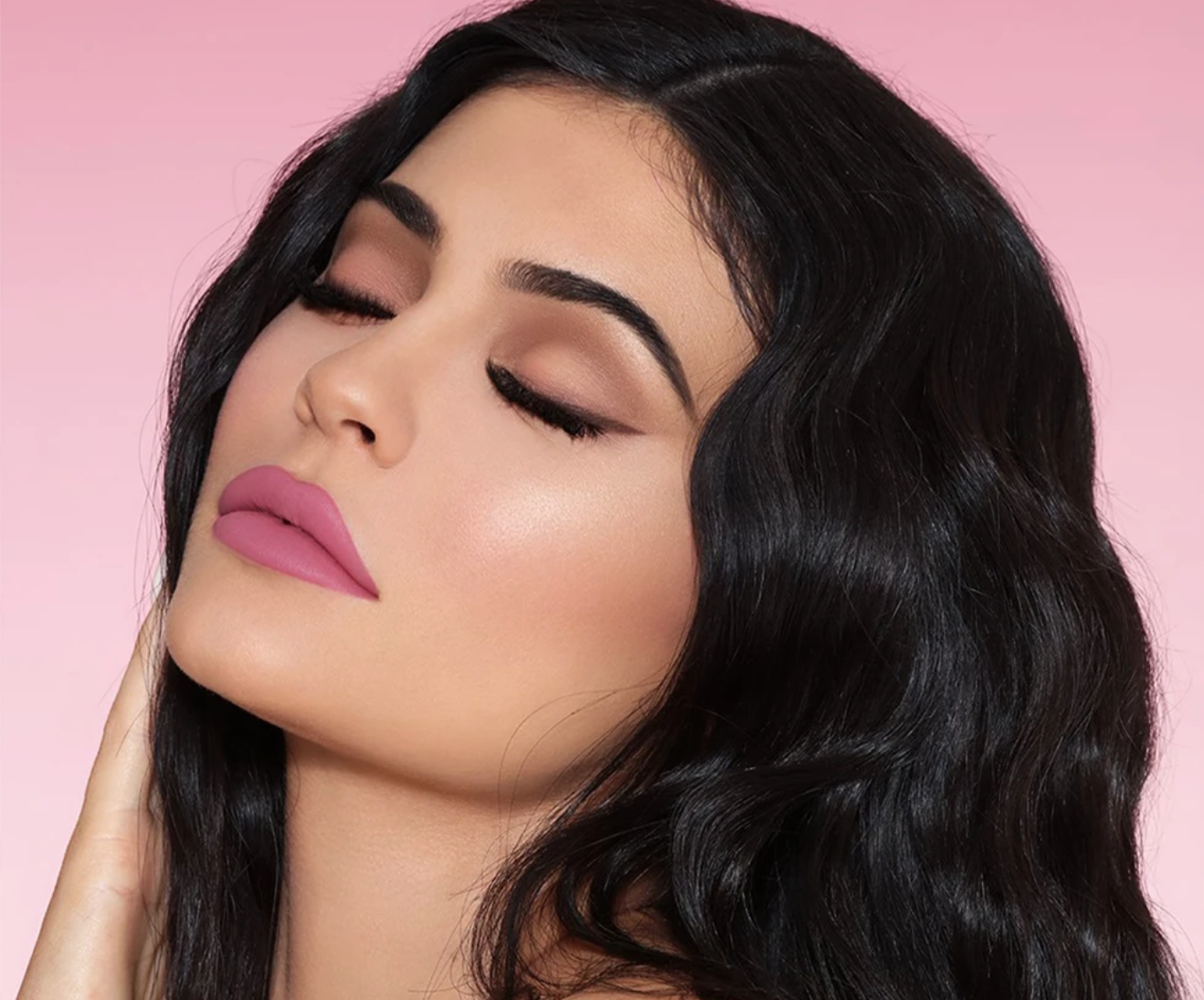 Kylie Jenner poses in an advertisement for Kylie Cosmetics.