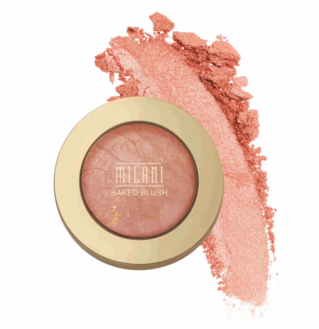 An advertisement for Milani's cult-favorite Luminoso Baked Blush.