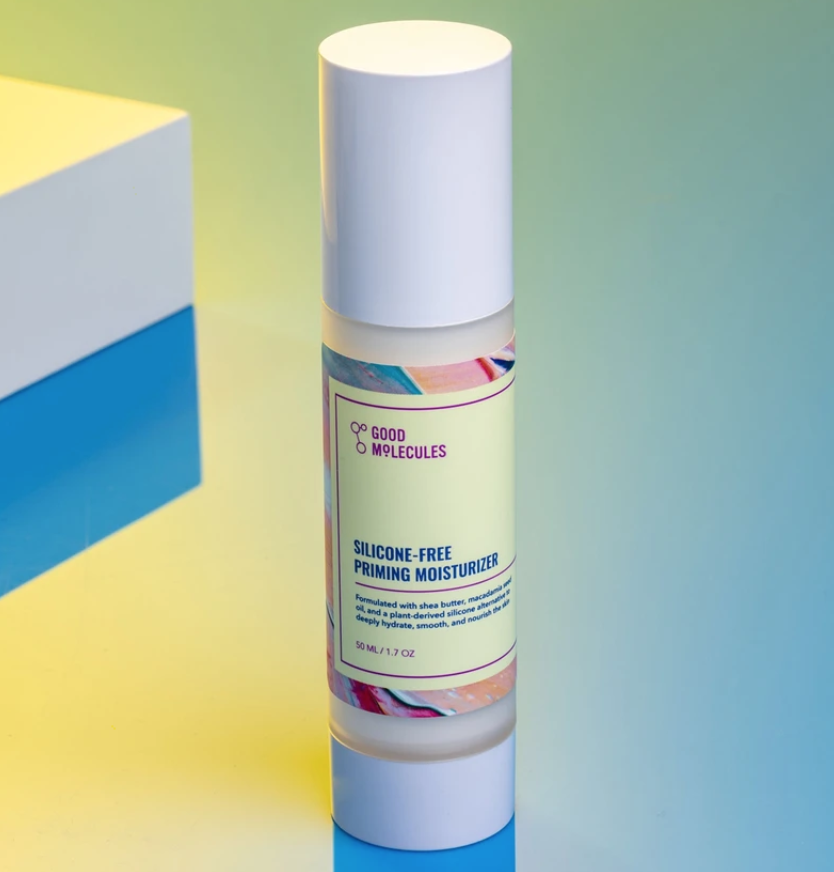 A close-up shot of Good Molecules' Silicone-Free Priming Moisturizer.