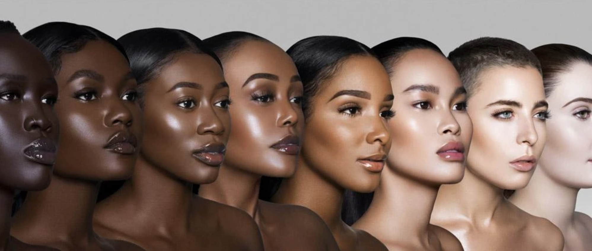 A diverse group of models poses in an advertisement for Juvia's Place.
