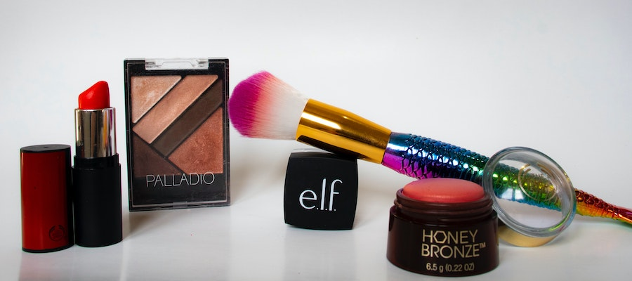 Beauty products from various brands, including E.L.F., by Rosy Nguyen.