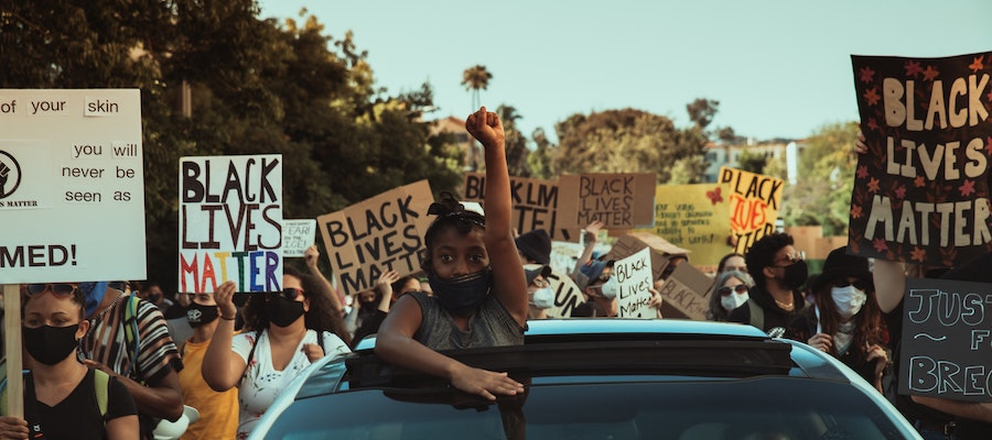 Black Lives Matter protesters, by Sean Lee.