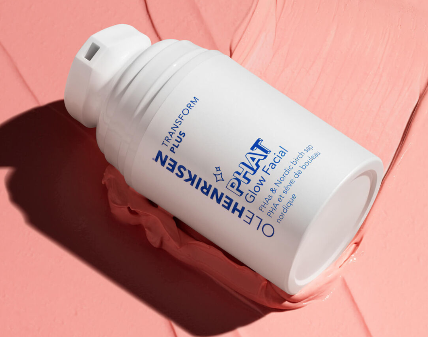 Close-up of Ole Henriksen's PHAT Glow Facial.