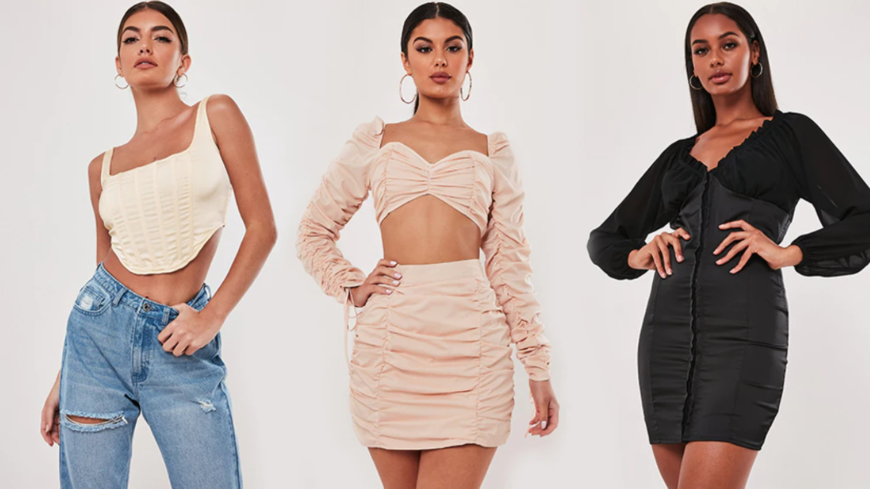 Models wearing pieces from Anastasia Karanikolaou's Stassie x Missguided collection.