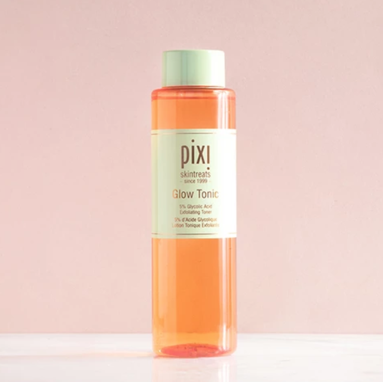 An advertisement for Pixi Beauty's Glow Tonic.