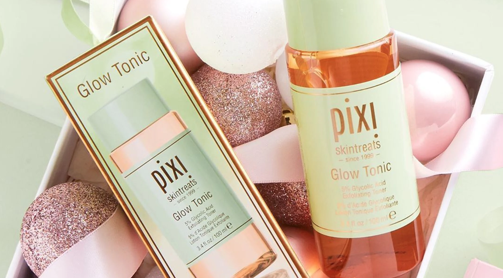 The holiday edition of Pixi Beauty's Glow Tonic.